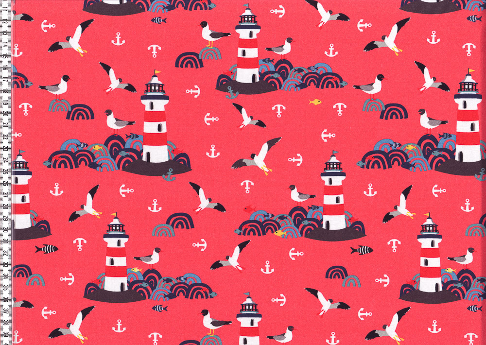 *Lighthouse Island*by Lila Lotta Jersey koralle SALE