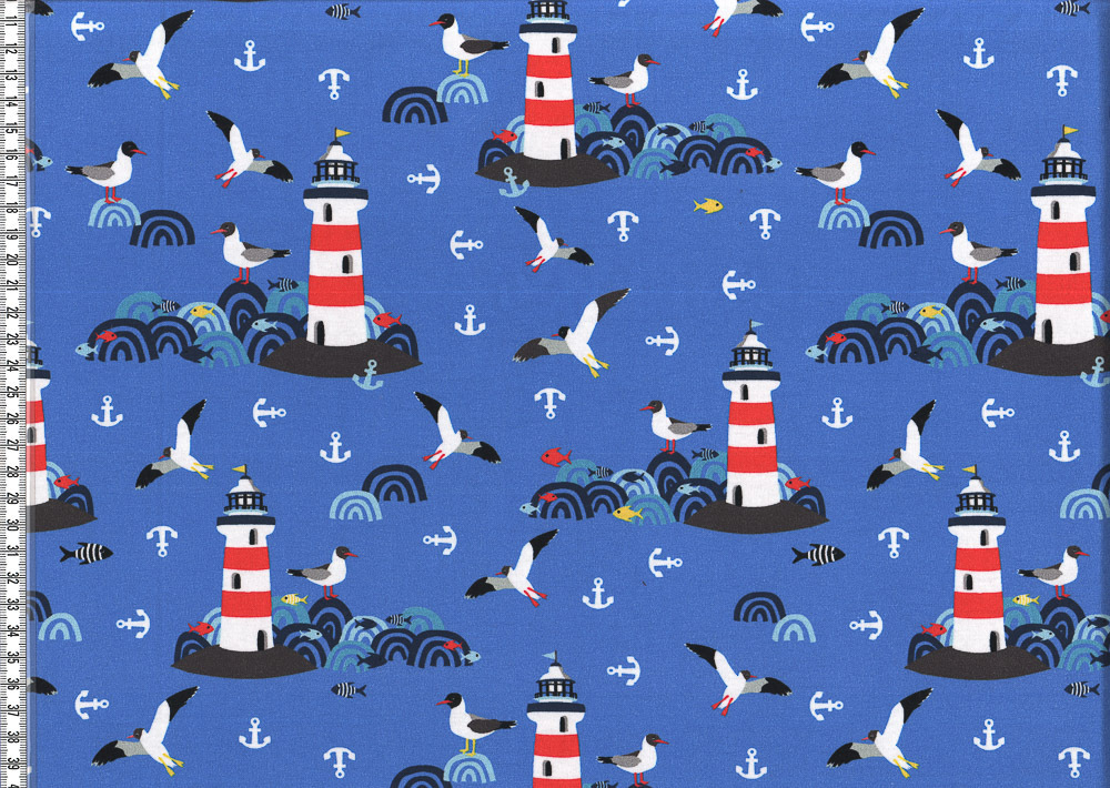 *Lighthouse Island*by Lila Lotta Jersey blau SALE