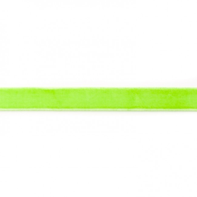 Samtband, lime 15 mm