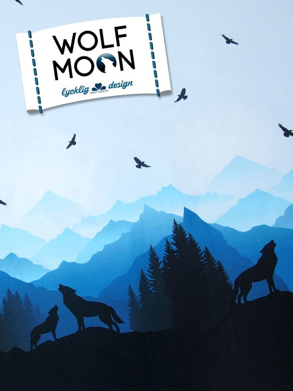 Wolf Moon French Terry von Lycklig Design Swafing SALE